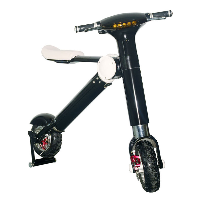 Black / White Patent ET Two Wheel Foldable Electric Scooter With 250W / 350W / 500W Motor