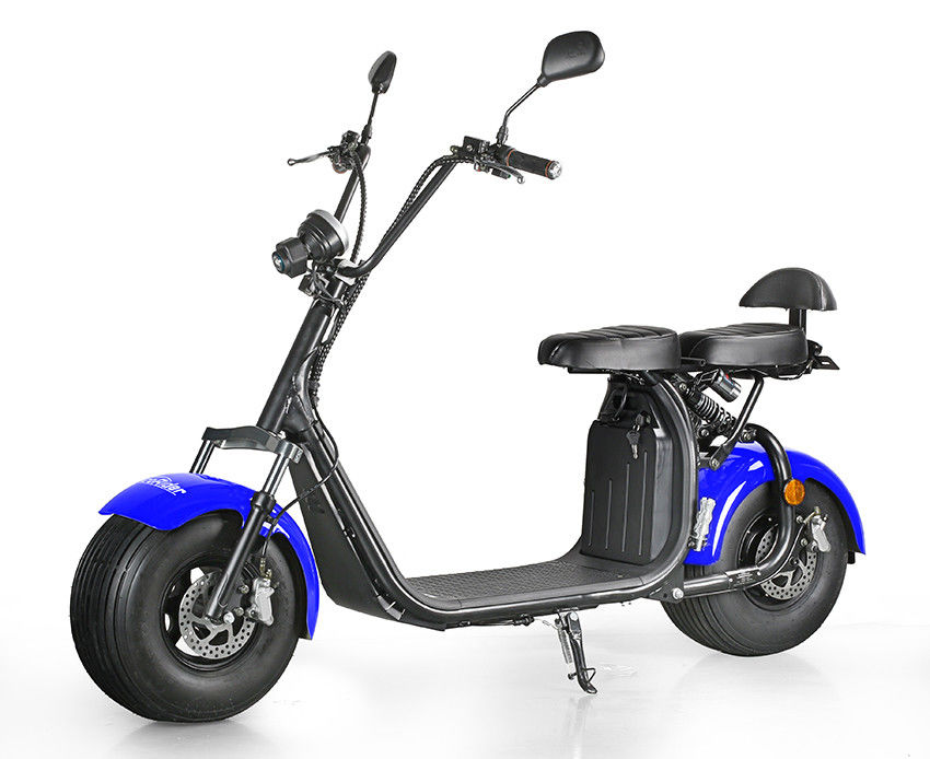 LCD screen 1000W Power 2 Wheel Electric Scooter with CE mark mirror , 50KM Max Speed