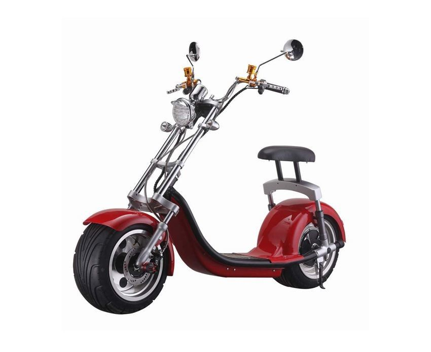2 Wheel Harley Electric Scooter For Adults , 60V Fat Tires Travel Scooter 40KM Max Speed