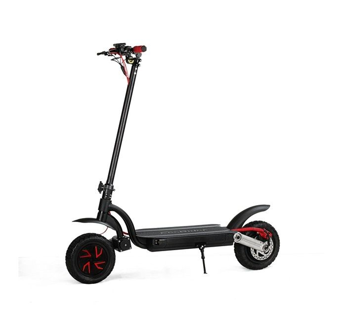700W 10 Inch Vacuum Tire Folding Travel Scooter With Liquid Crystal Display
