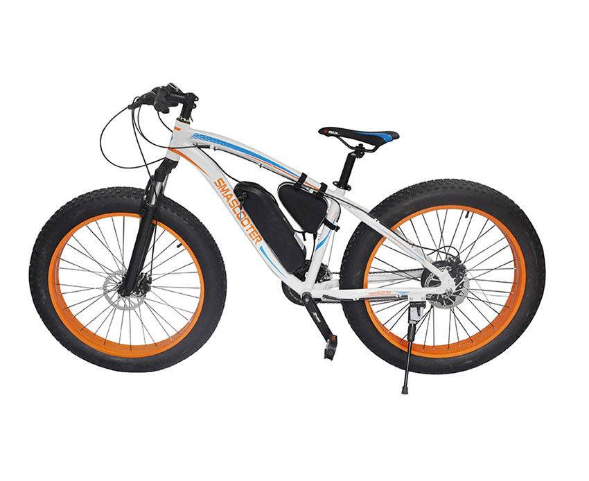 "Off Road 2 Wheel Electric Bike Outdoor 26"" Tires Electric Snow Bike 48V"
