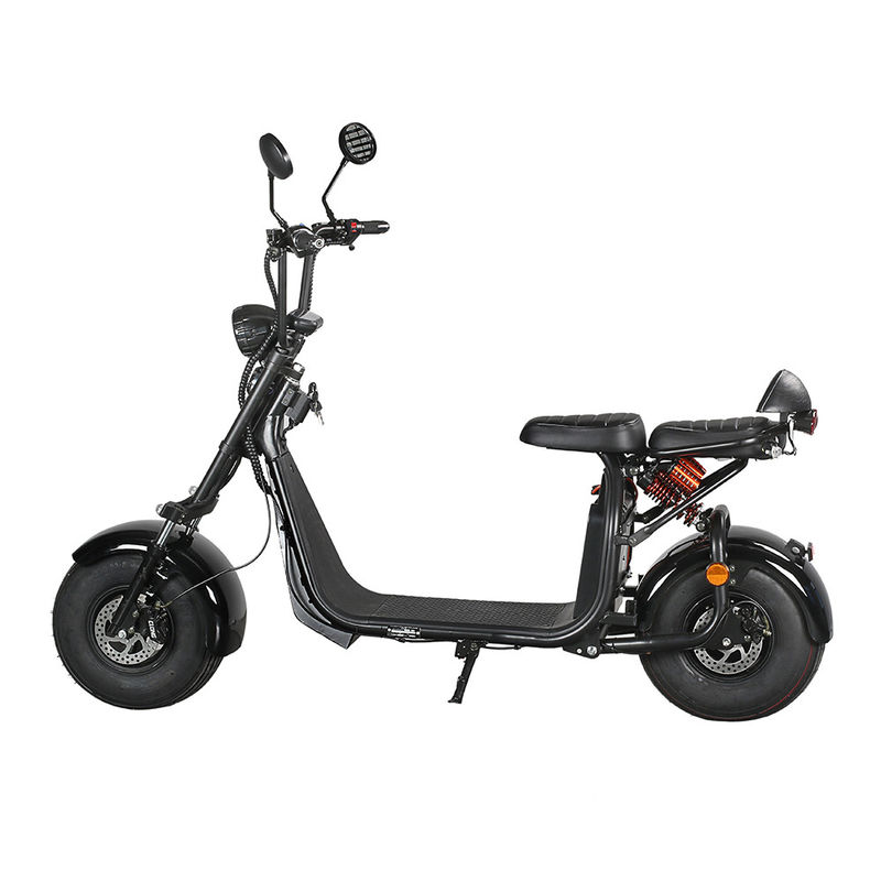 Citycoco 2 Wheel Electric Scooter 20 Degrees Climb Capability Double Hydraulic Disc Brake