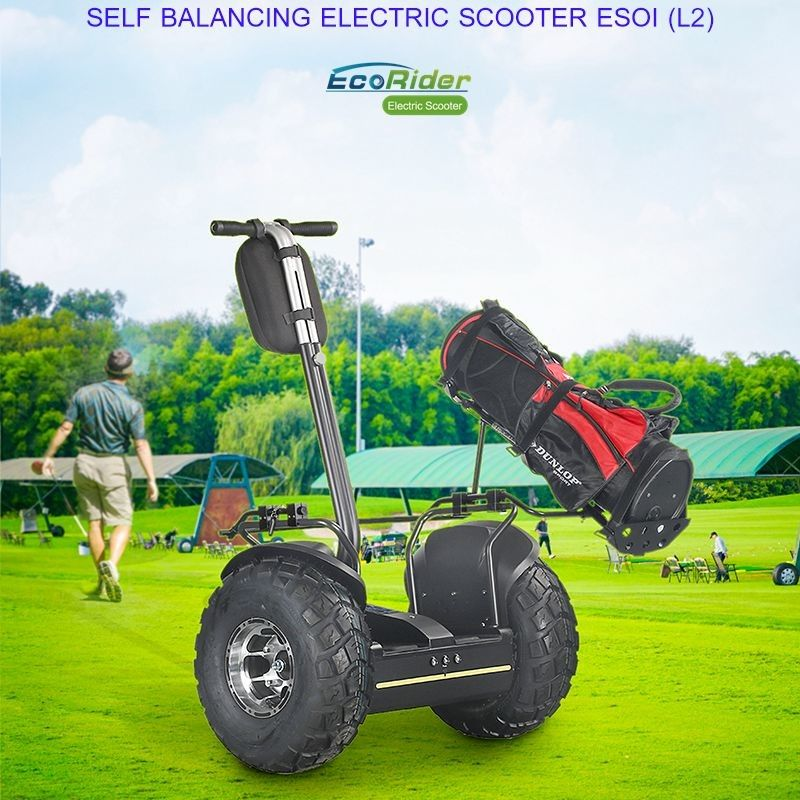 Outdoor Electric Golf Scooter Self Balance 19 Inch Fat Tire Two Wheels Chariot